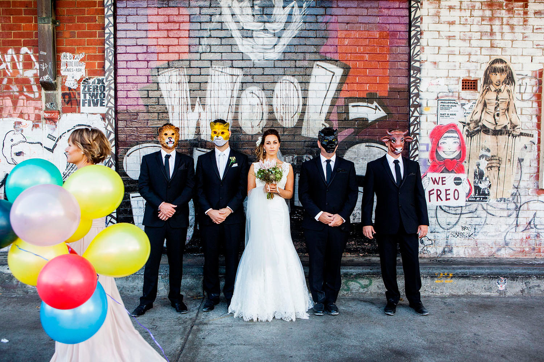Original fun wedding