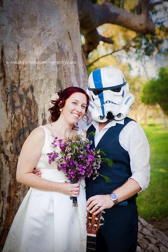 San Diego Star Wars Wedding Photographer Photo Stormtrooper wedding
