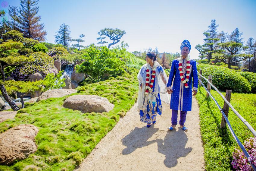Japanese Garden Suiho En Wedding Los Angeles Bangladesh Cultural Wedding Cynthia Jamil