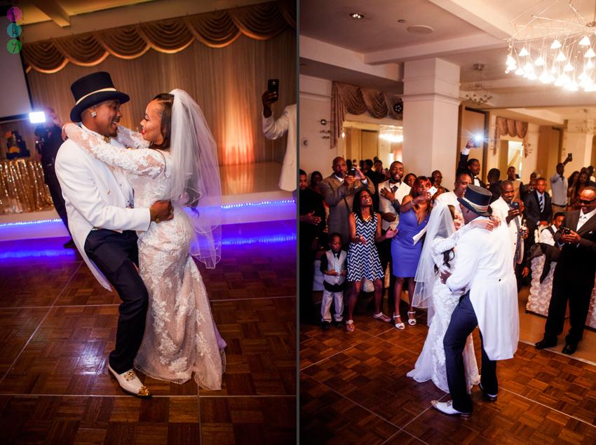 Los Angeles Wedding Reception Photos African American Fun Dancing 013