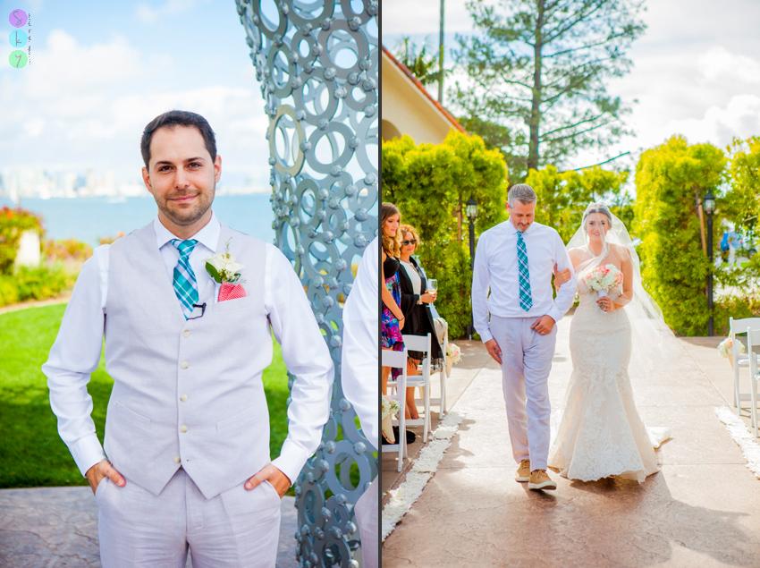 Tom Hams Lighthouse Wedding Ceremony San Diego California