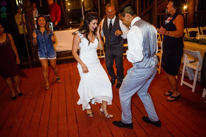 Knickerbocker Mansion Big Bear Wedding Dancing 020