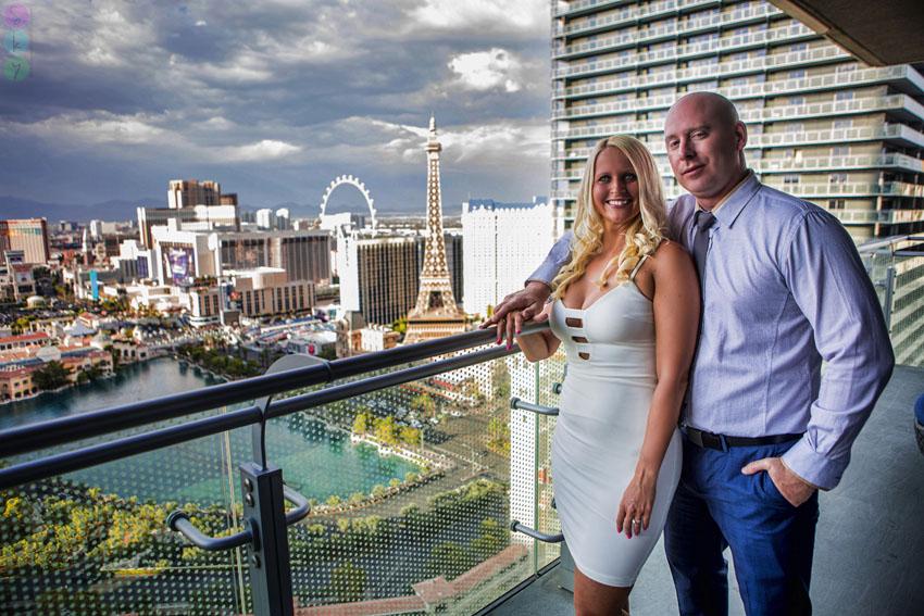Las Vegas Strip Engagement Photos Cosmopolitan Hotel Amber
