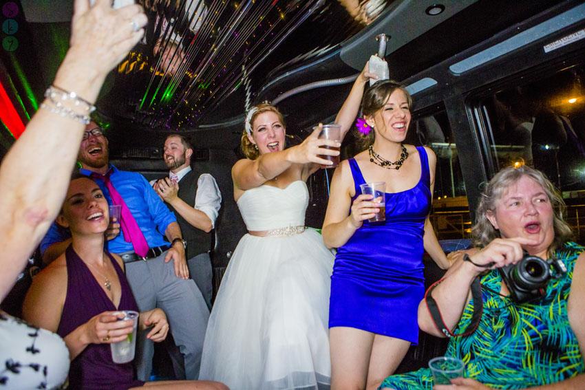 Las Vegas Strip Party Bus Wedding Photos Lauren Kit