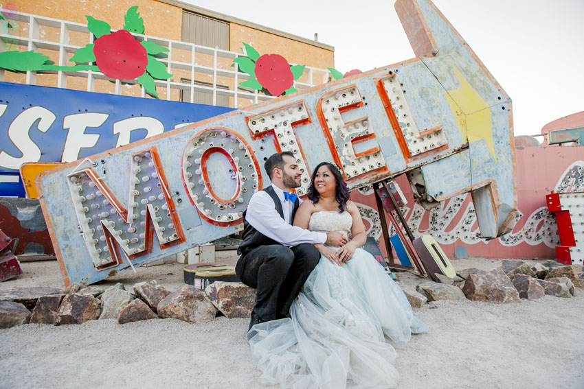 how much does it cost to get married in Vegas? Neon Museum Photo