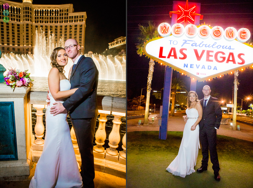 We Ended Up At The Las Vegas Sign Which Is One Of Most Famous Spots In World For Strip Night Time Wedding Photos